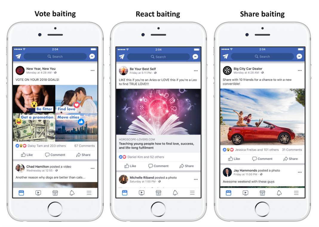 Facebook fin du clickbaiting