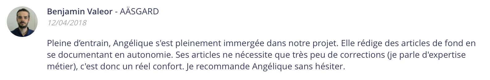Angélique Cadic recommandation