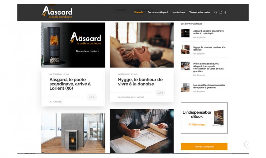 Aäsgard, rédaction d'articles de blog