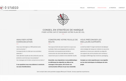 Angelique Cadic Contenu site web O Studio