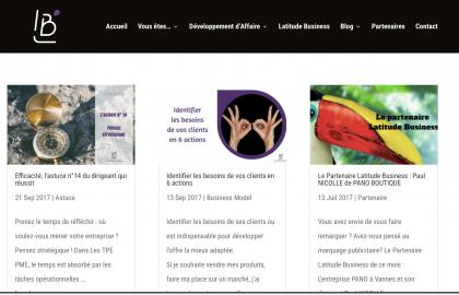 Réalisations Des Mots pour le web Latitude Business