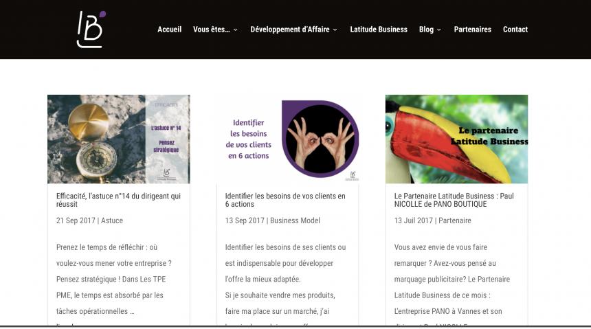 Latitude Business, rédaction d'articles de blog