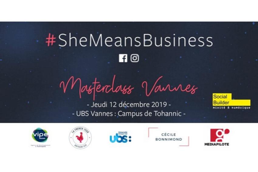 #SheMeansBusiness, à Vannes le 12 décembre
