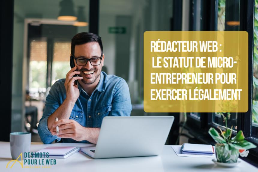 Rédacteur web : le statut de micro-entrepreneur pour exercer légalement