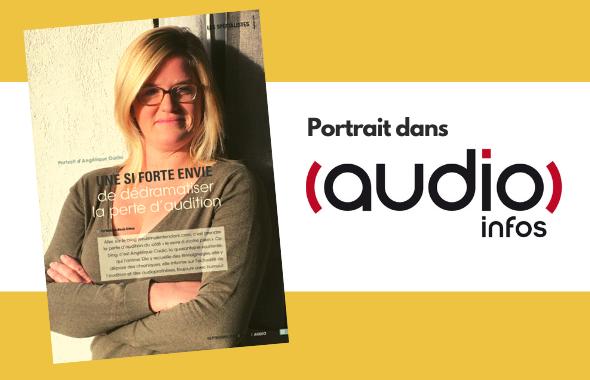 Portrait d'Angélique Cadic dans le magazine AudioInfos