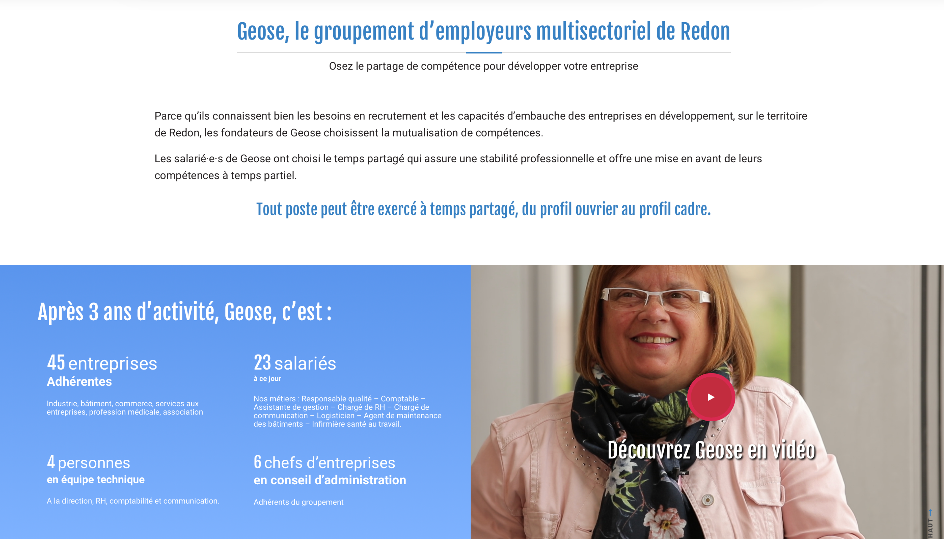 GEOSE PAGE A PROPOS