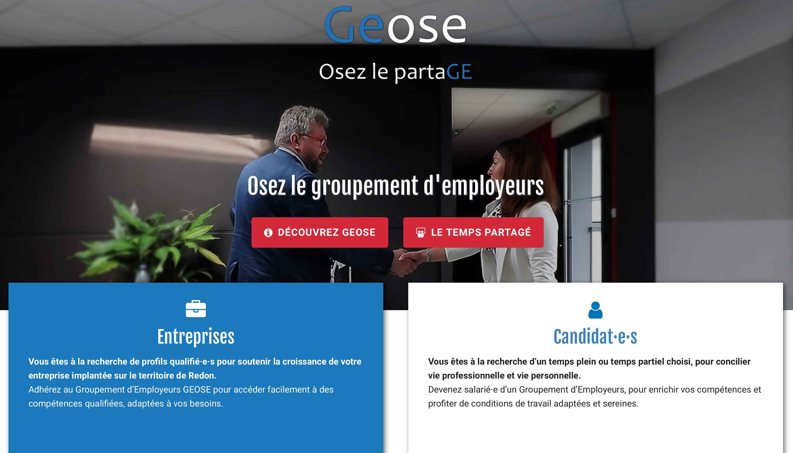 GEOSE PAGE D ACCUEIL