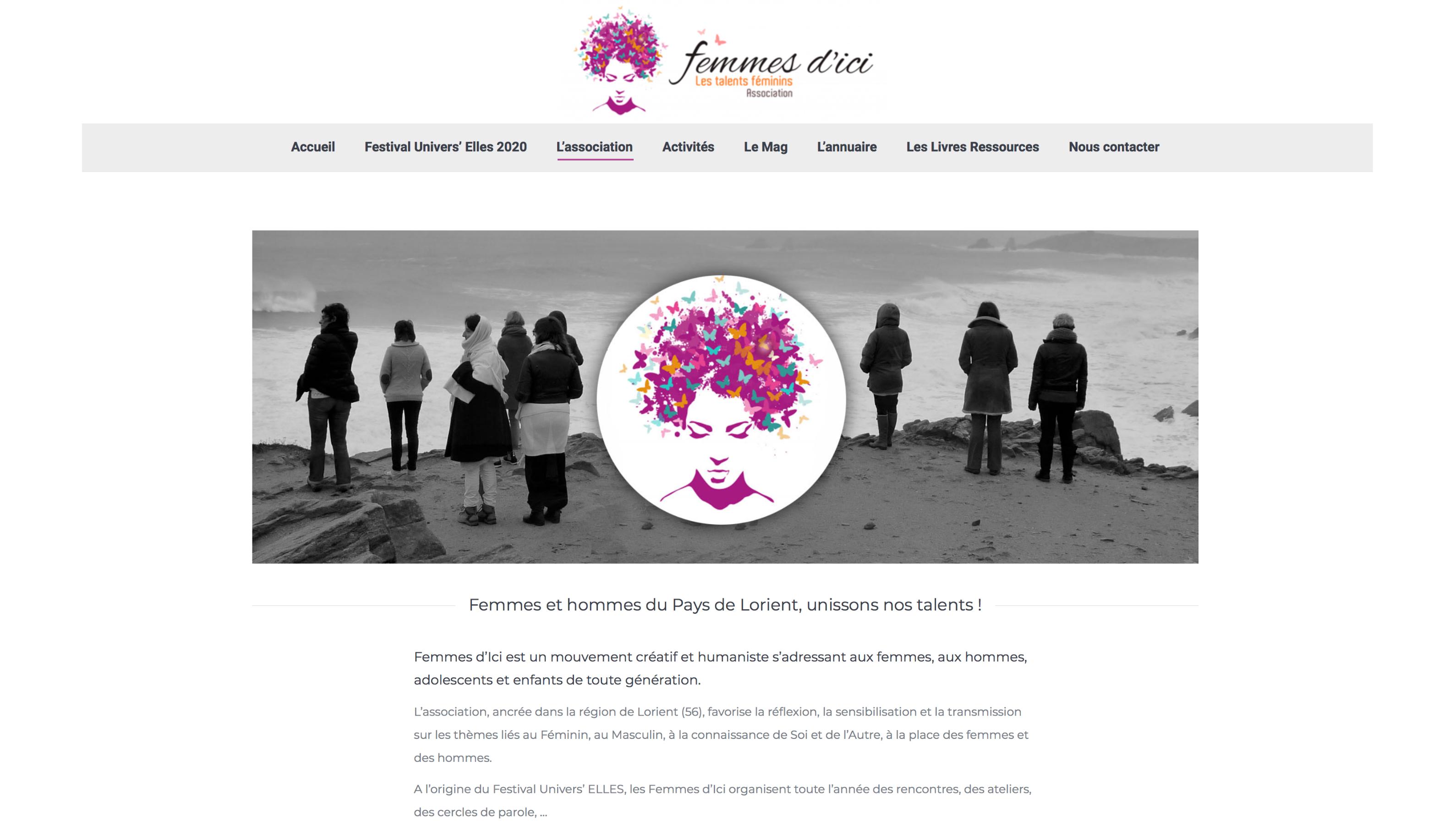 redaction site web femmes d'ici