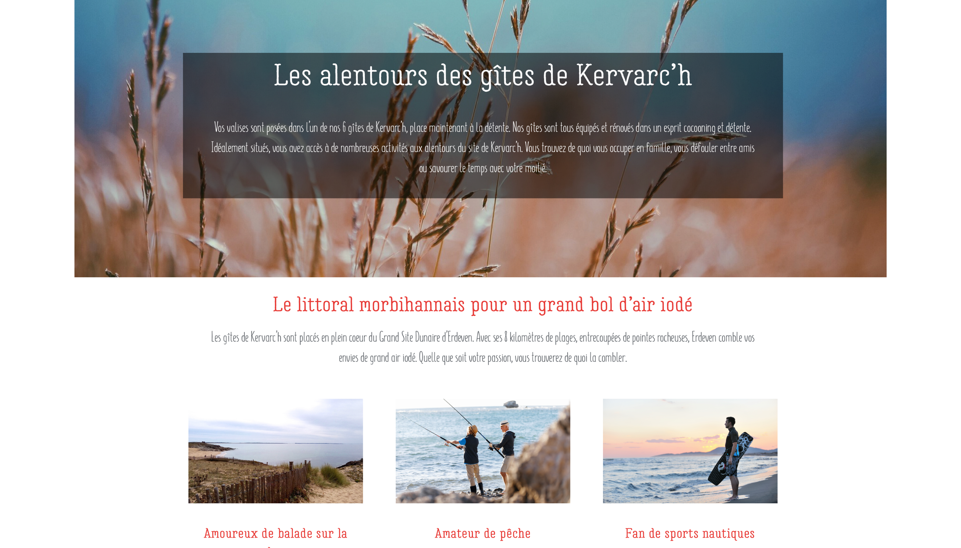 Les Gites de Kervarc'h, Page Les alentours